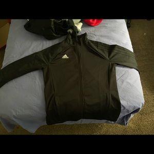 Adidas track jacket with thumb holes